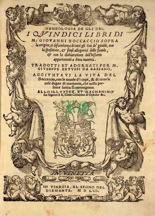 11 Libri di Giovanni Boccaccio