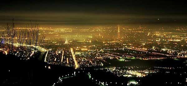 Torino panorama notte