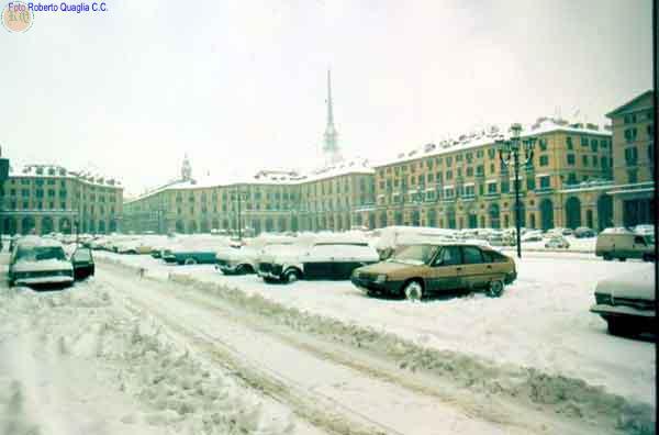 Piazza Vittorio inverno